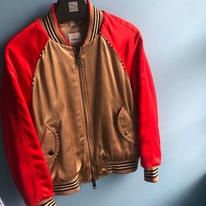 🩸 RED AND GOLD BURBERRY BOMBER JACKET 🩸